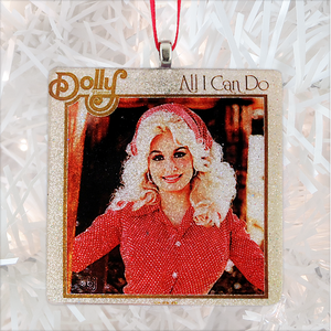 Dolly Parton All I Can Do Album Cover Glass Ornament by BBJ