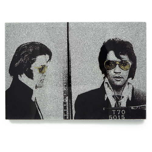 Elvis Presley mug shot wall art plaque