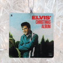 Load image into Gallery viewer, Elvis Christmas Album Glass Ornament by BBJ