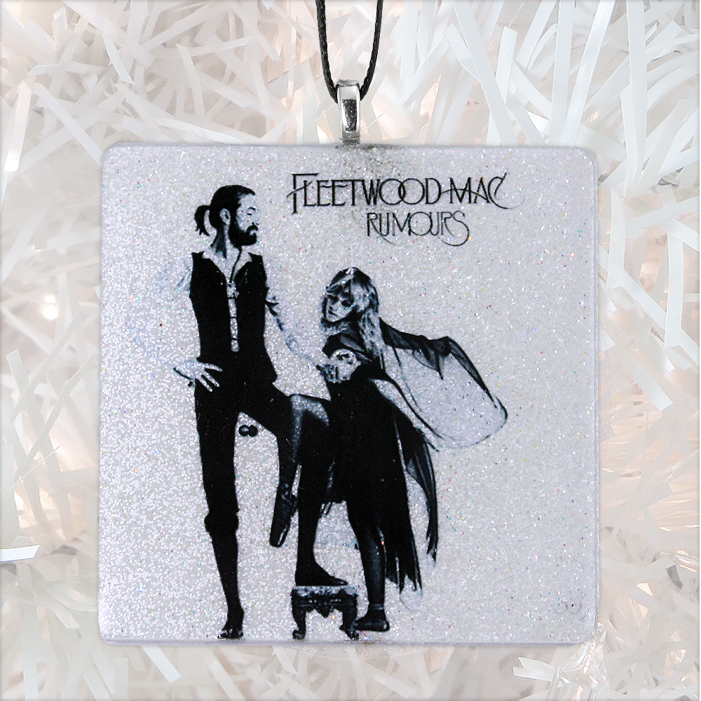 Fleetwood Mac Rumours Album Cover Glass Ornament by BBJ