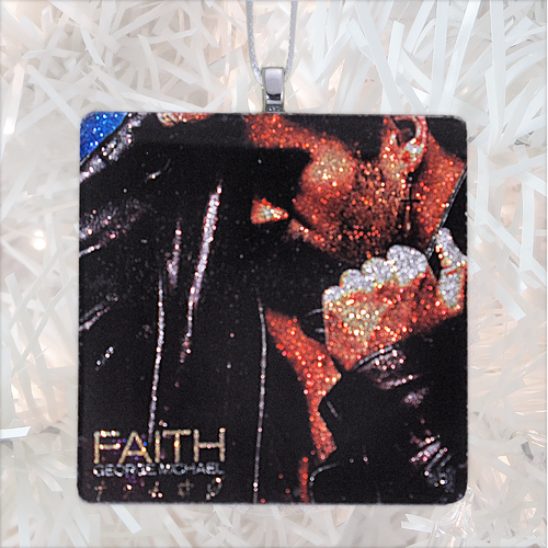 George Michael Faith Album Cover Glass Ornament by BBJ