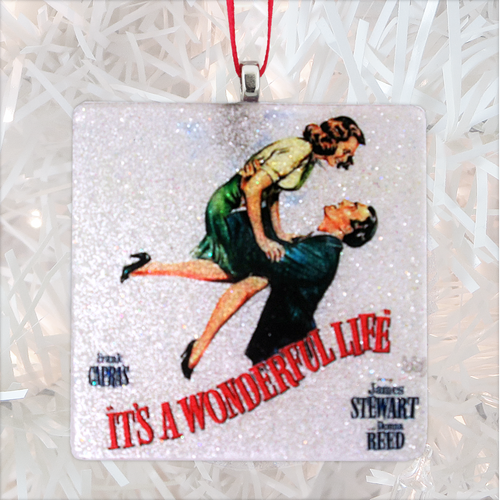 It's A Wonderful Life Glass Ornament by BBJ