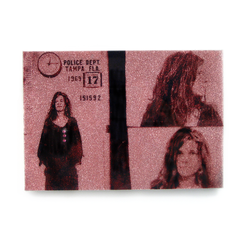 Janis Joplin mug shot wall art plaque