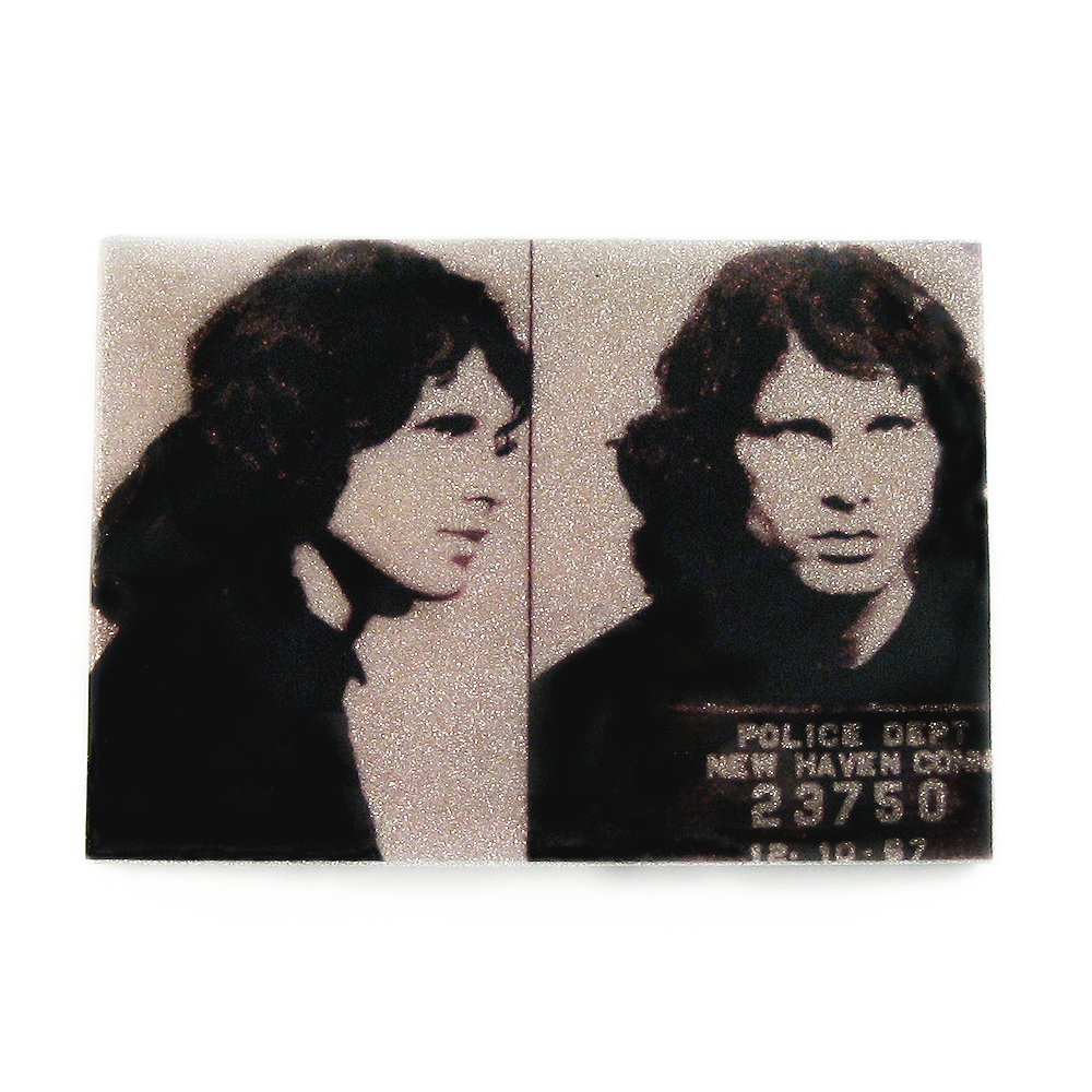 Jim Morrison mug shot wall art plaque