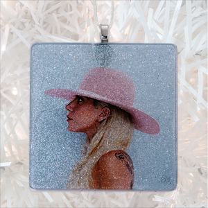 Lady Gaga Joanne Album Cover Glass Ornament by BBJ