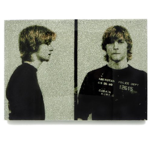 Kurt Cobain mug shot wall art plaque