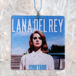 Lana Del Ray Born To Die Custom Album Cover Glass Ornament by BBJ