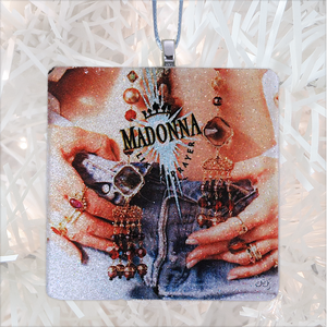 Madonna Like A Prayer Album Cover Glass Ornament by BBJ
