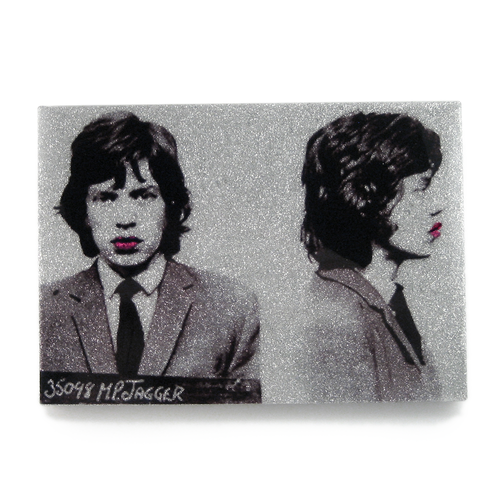 Mick Jagger mug shot wall art plaque