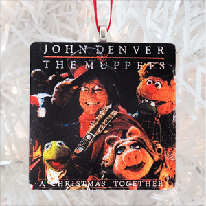 John Denver and the Muppets: A Christmas Together Album Cover Glass Ornament by BBJ