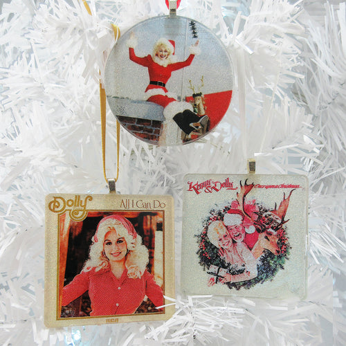 3 glass ornament special by BBJ - Dolly Parton X3