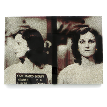 Load image into Gallery viewer, Patty Hearst mug shot wall art plaque