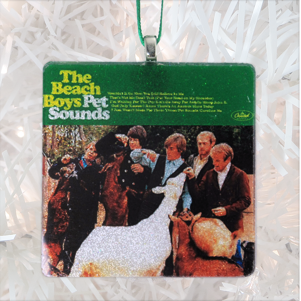 The Beach Boys Pet Sounds Custom Album Cover Glass Ornament by BBJ