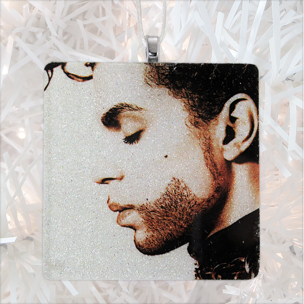 Prince The Hits Album Cover Glass Ornament by BBJ