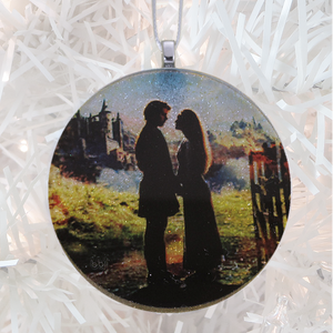 The Princess Bride glass and glitter handmade Christmas ornament by BBJ