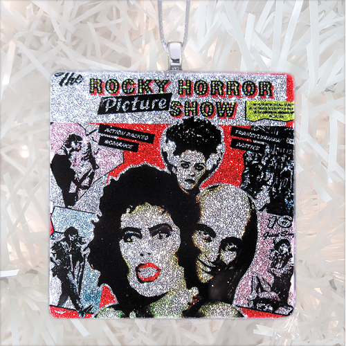 Rocky Horror Picture Show Soundtrack Album Cover Glass Ornament by BBJ