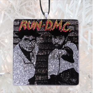 Run DMC Custom Album Cover Glass Ornament by BBJ