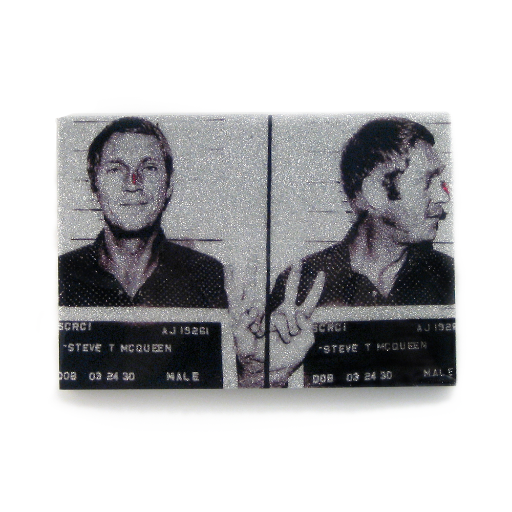 Steve McQueen mug shot wall art plaque