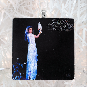 Stevie Nicks Bella Donna Custom Album Cover Glass Ornament by BBJ