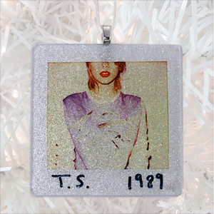 Taylor Swift 1989 Custom Album Cover Glass Ornament by BBJ