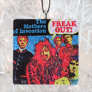 Frank Zappa Mothers of Invention Freak Out! Custom Album Cover Glass Ornament by BBJ