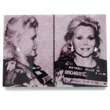 Load image into Gallery viewer, Zsa Zsa Gabor mug shot wall art plaque