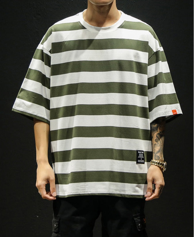 Oversized Gestreept Hip Hop T-shirt