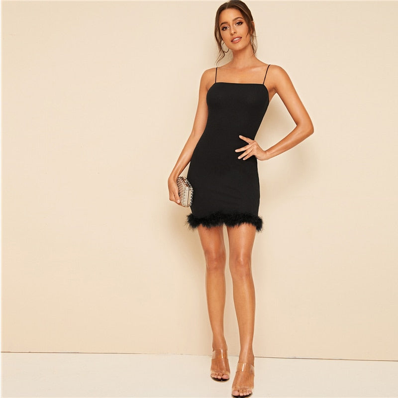 Dames Mouwloze Bodycon Slip Mini Jurk
