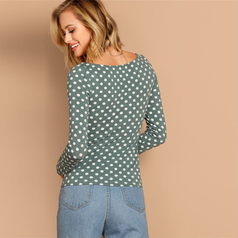 New Fashion Polka-Shirt