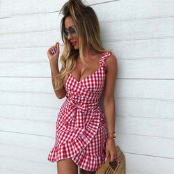 Vrouwen Casual Plaid Dress