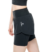 Visigo Aura Black Double Shorts W8ST8006050