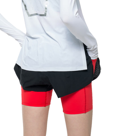 Visigo Aura Flame Red Double Shorts W8ST8006100
