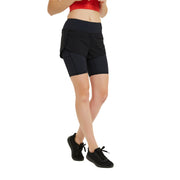 Visigo Doris Black Double Shorts W8ST8008