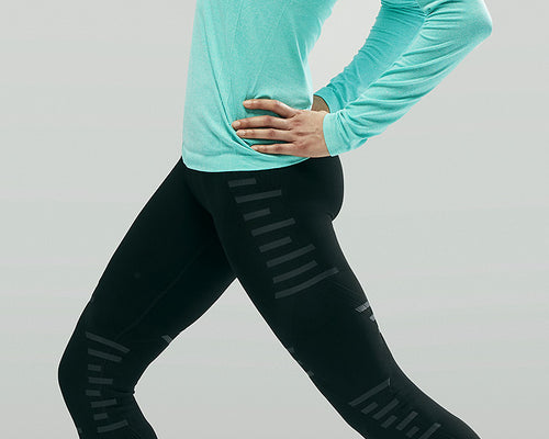 Stoko K1 knee support tights for women is a great alternative to knee braces and compression pants