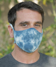 Load image into Gallery viewer, Tie Dye Hemp Organic Cotton Mask with Ties