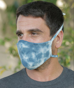 Tie Dye Hemp Organic Cotton Mask with Ties