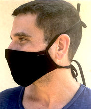 Load image into Gallery viewer, Hemp and Organic Cotton Mask with Ties