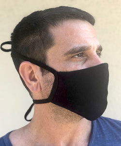 Hemp and Organic Cotton Stretch Mask with Ties