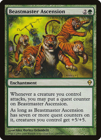 Beastmaster Ascension [Zendikar] | Power On Games