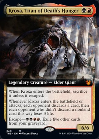 Kroxa, Titan of Death's Hunger (Extended Art) [Theros Beyond Death] | Power On Games