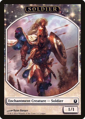 Soldier Token - Born of the Gods (League) [League Tokens 2014] | Power On Games