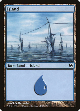 Island (76) [Duel Decks: Elspeth vs. Tezzeret] | Power On Games