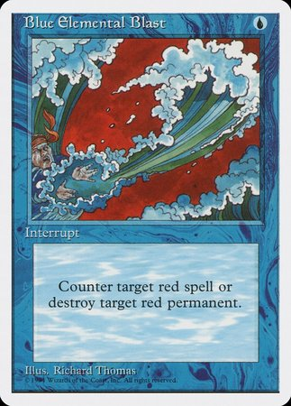 Blue Elemental Blast [Magazine Inserts] | Power On Games