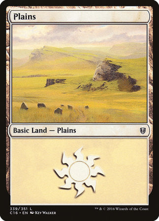 Plains (339) [Commander 2016] | Power On Games