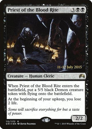 Priest of the Blood Rite [Magic Origins Promos] | Power On Games