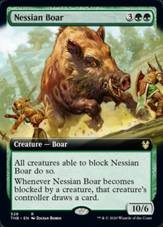 Nessian Boar (Extended Art) [Theros Beyond Death] | Power On Games
