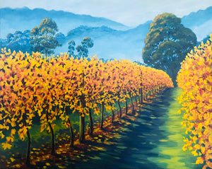Mist above the vines (76x61cm)