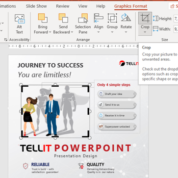 How to crop an image on PowerPoint