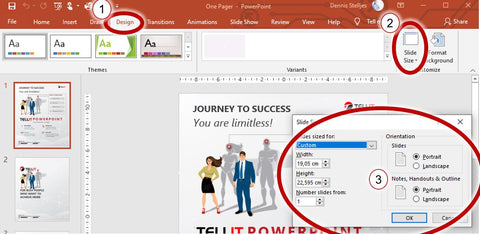 PowerPoint - Define the size of your flyer
