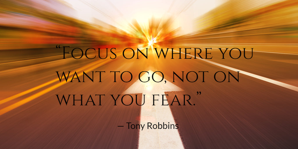 Tony Robbins - Focus on where you want to go, not what you fear.